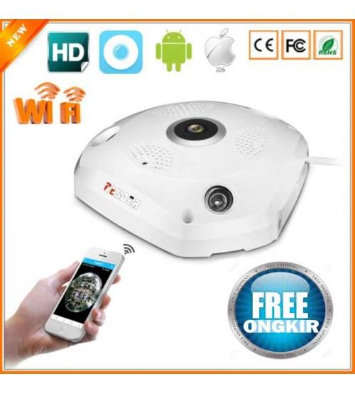 Kamera CCTV VR IP CAM 360  - Fish Eye 3D AHD 2MP - Panoramic  (Handphone Smartphone  Akses)