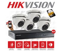 Paket MURAH/ HEMAT - 4 camera Dome/Outdoor AHD  720P (AHD 1 Mp)  HIKVISION Original  + Pasang