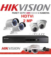 Paket CCT V- 4 camera  HDTVi  2MP (1080P) HIKVISION Original   + Pasang