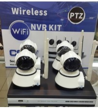 Paket 4 ch NVR Wireless  + 4  IP camera wireless AHD 1,3MP  + Pasang