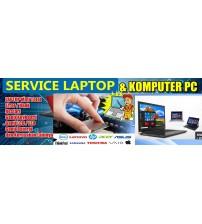 Bantu Service Laptop : Ganti LCD | Baterai | Engsel | Ngk hidup | Charging | Usb error | Fan error |  Hang | restart dll..