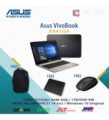 ASUS X441UA -  Core I3 7020 2.3Ghz | Ram 4GB | HDD 1TB | 14 inch | DOS  | non DVD   (14 inch)