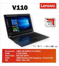 Lenovo V110 - AMD A9 | 14 inch | Radeon R5 shared
