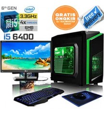 "Paket PC Core i5 6500  (Skylike - lga 1151) | Ram 4gb ddr4 | Hdd 1 tb | Led 19"" LG"