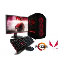 "Paket PC Amd  Gaming  -  Ryzen 5 - 3400G (AM4) | SSD 120 GB | LED 19 "" Acer"