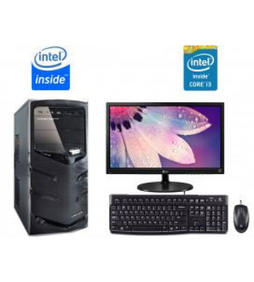 "Paket PC Kantor 7 -  Intel Core i3 4130 (haswell)  |  Led 19"" Acer"