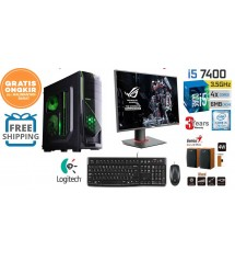Paket PC Server UNBK - Core i5 7400 (Ram DDR4 8gb/ Hdd 1 Tb)  - LED LG 19""