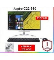PC All In One Acer  C22 - 960  - Intel Core i5 - 10210U   |  Layar 21.5"