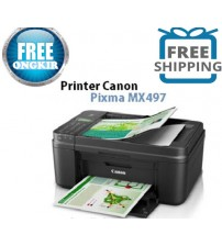 Printer Canon MX497 (Print Scan Copy + Fax /  F4) + WIFI